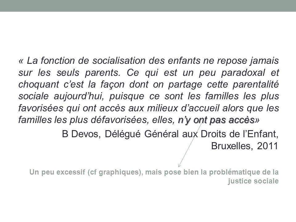 n'y ont pas accès « La fonction de socialisation des enfants ne repose jamais sur les seuls parents.