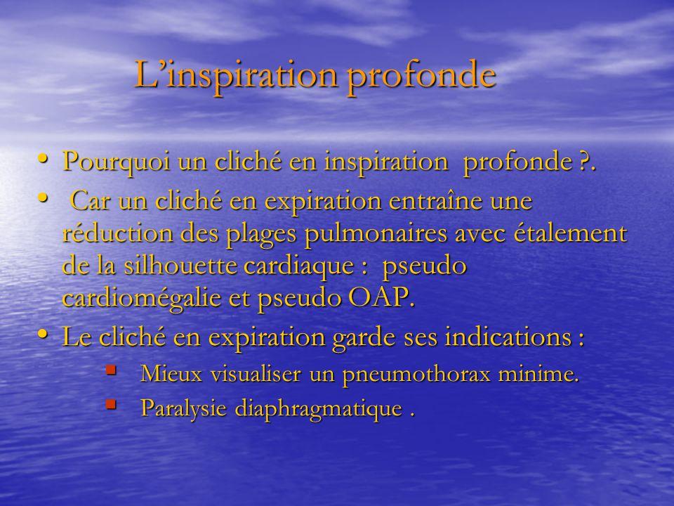 L'inspiration profonde L'inspiration profonde Pourquoi un cliché en inspiration profonde ?. Pourquoi un cliché en inspiration profonde ?. Car un clich