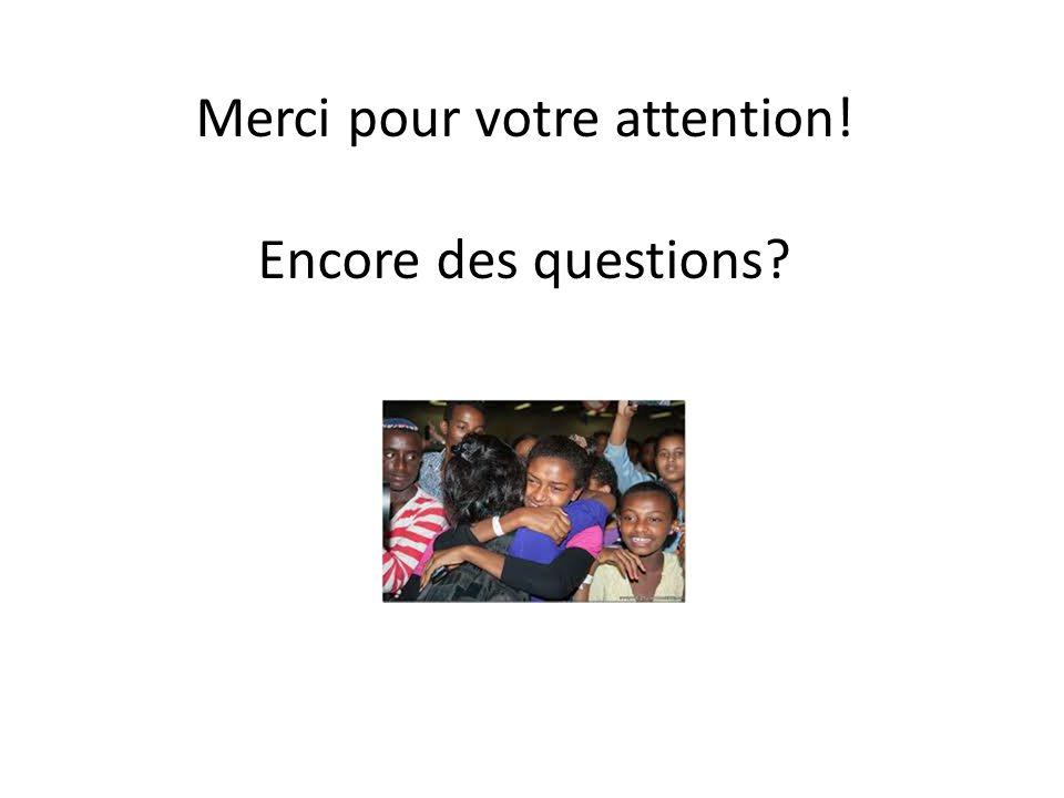 Merci pour votre attention! Encore des questions?