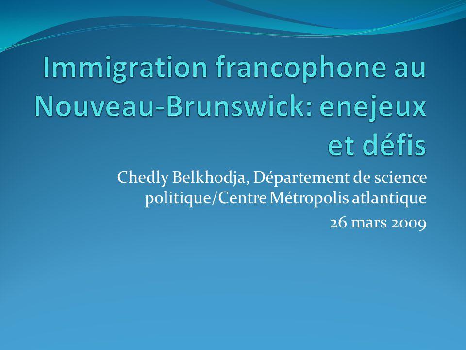 Chedly Belkhodja, Département de science politique/Centre Métropolis atlantique 26 mars 2009