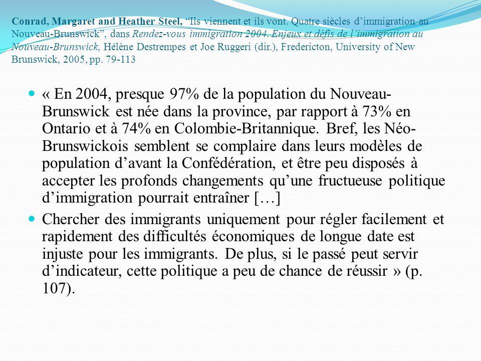 Le défi de l'immigration dans des petites sociétés homogènes Développer une réalité francophone plurielle sans perdre la dualité: la question de la diversité Amener les sociétés d'accueil à accepter l'immigration.