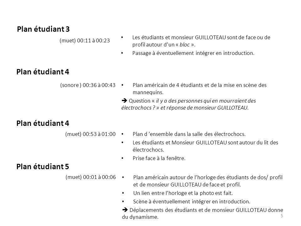 Plan étudiant 3 Les étudiants et monsieur GUILLOTEAU sont de face ou de profil autour d'un « bloc ». Passage à éventuellement intégrer en introduction
