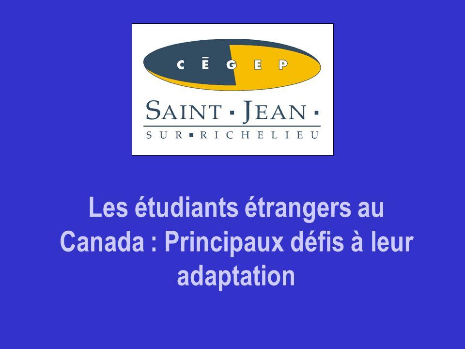 Les étudiants étrangers au Canada : Principaux défis à leur adaptation