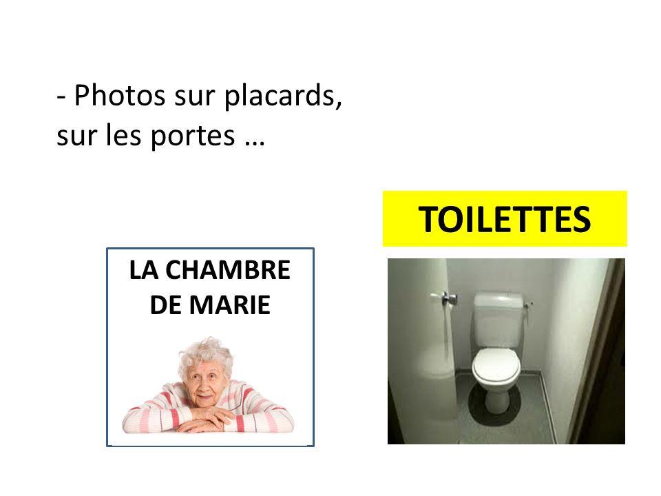 LA CHAMBRE DE MARIE TOILETTES - Photos sur placards, sur les portes …