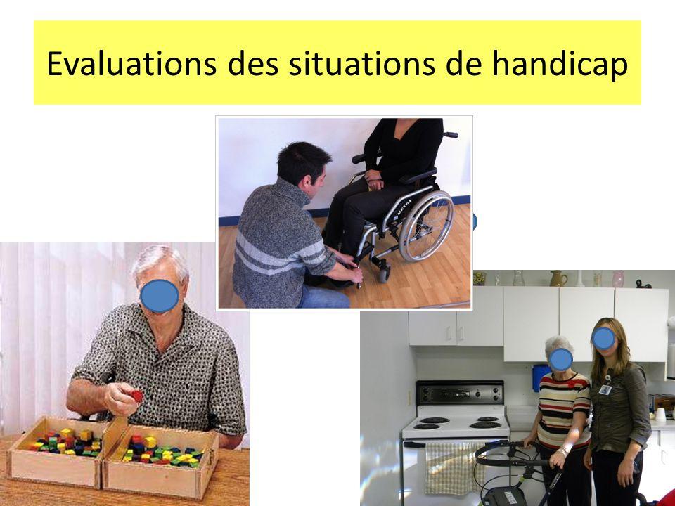 Evaluations des situations de handicap