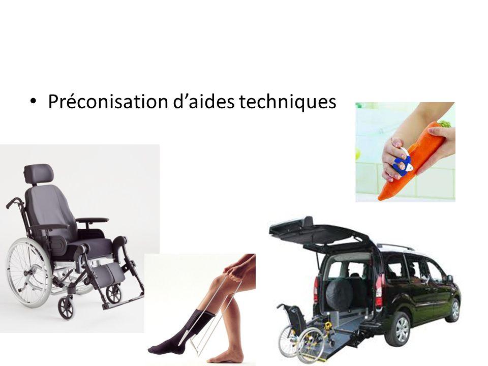 Préconisation d'aides techniques