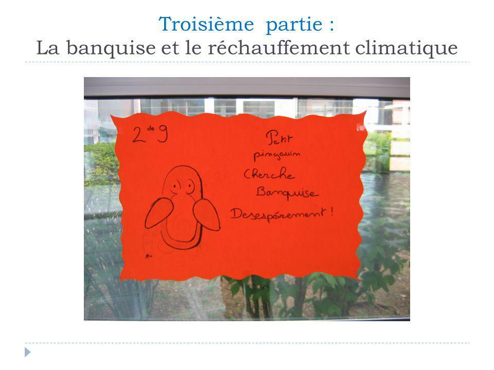 Troisième partie : La banquise et le réchauffement climatique