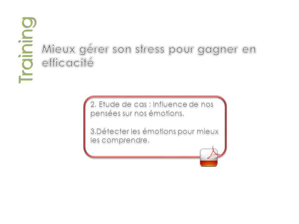 Training 2.Etude de cas : Influence de nos pensées sur nos émotions.