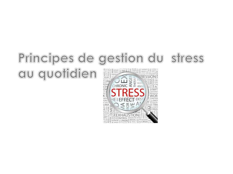 3 Types de gestion du stress 1.