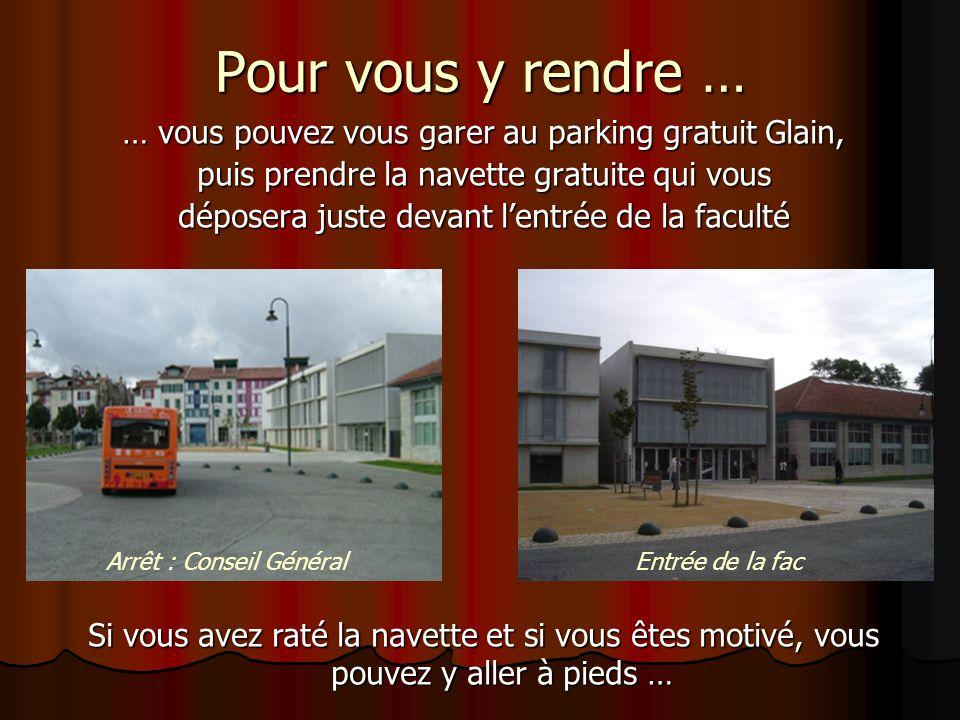 Pour vous y rendre … … vous pouvez vous garer au parking gratuit Glain, puis prendre la navette gratuite qui vous déposera juste devant l'entrée de la
