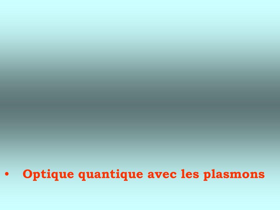 Optique quantique avec les plasmons