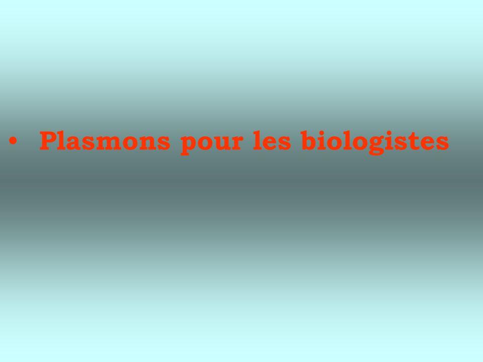 Plasmons pour les biologistes