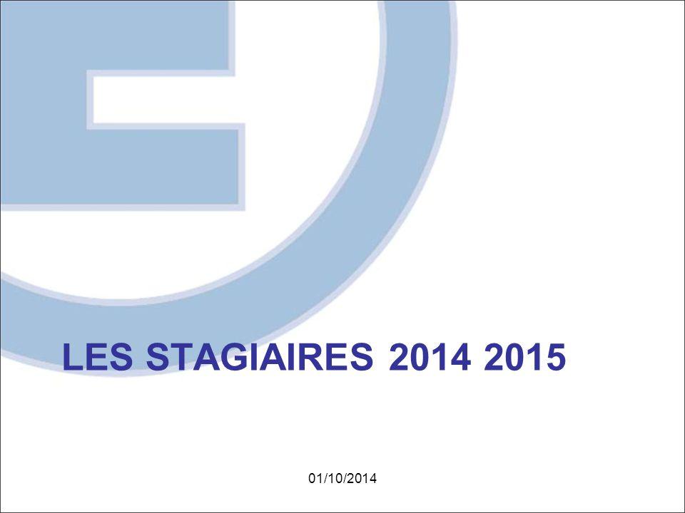 LES STAGIAIRES 2014 2015 01/10/2014