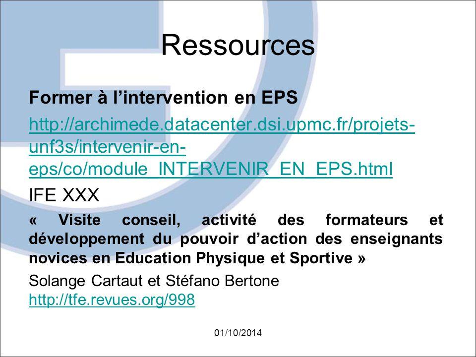 Ressources Former à l'intervention en EPS http://archimede.datacenter.dsi.upmc.fr/projets- unf3s/intervenir-en- eps/co/module_INTERVENIR_EN_EPS.html I