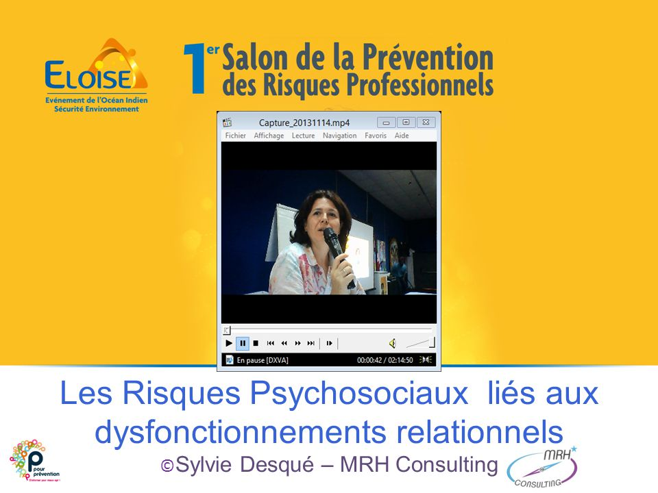 Les Risques Psychosociaux liés aux dysfonctionnements relationnels © Sylvie Desqué – MRH Consulting