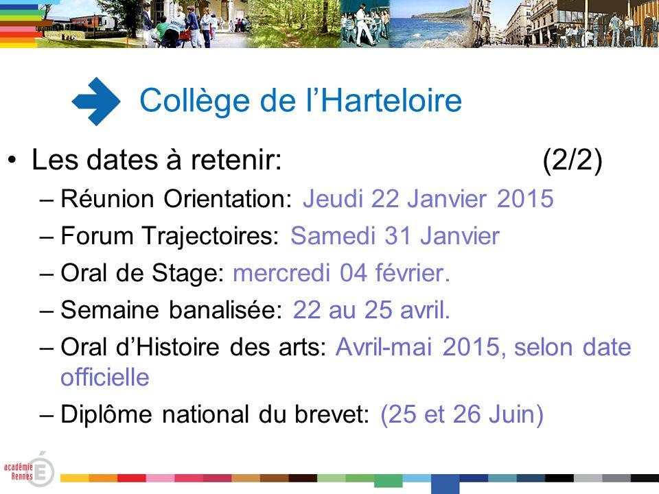 Les dates à retenir: (2/2) –Réunion Orientation: Jeudi 22 Janvier 2015 –Forum Trajectoires: Samedi 31 Janvier –Oral de Stage: mercredi 04 février. –Se