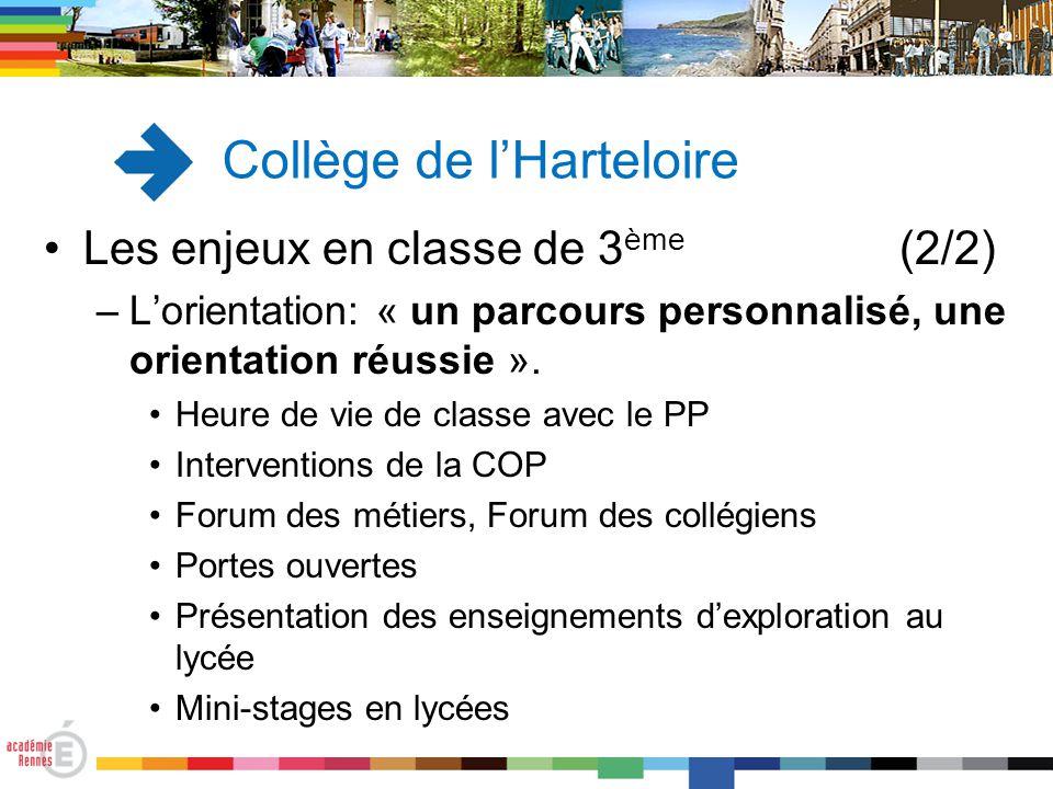 Les enjeux en classe de 3 ème (2/2) –L'orientation: « un parcours personnalisé, une orientation réussie ». Heure de vie de classe avec le PP Intervent