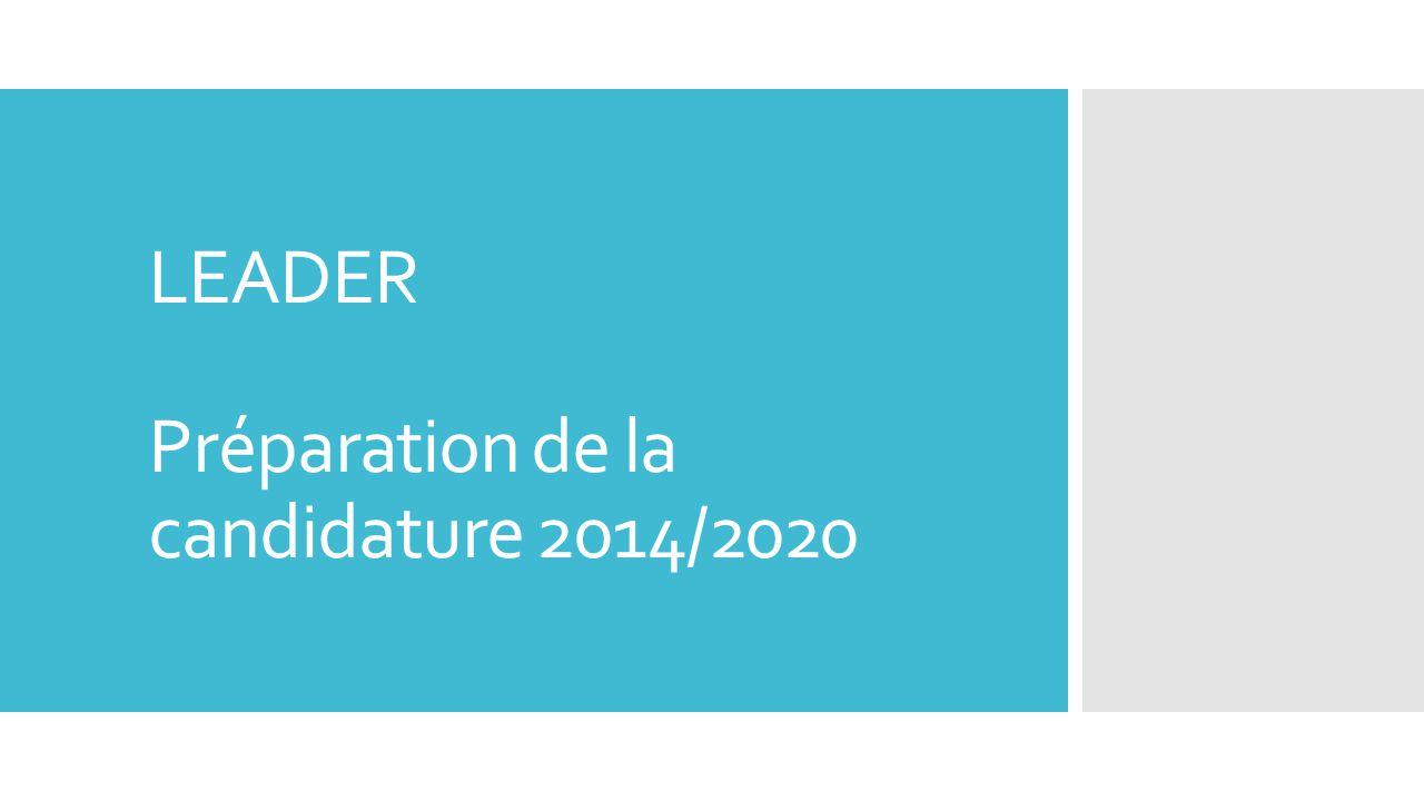 LEADER Préparation de la candidature 2014/2020