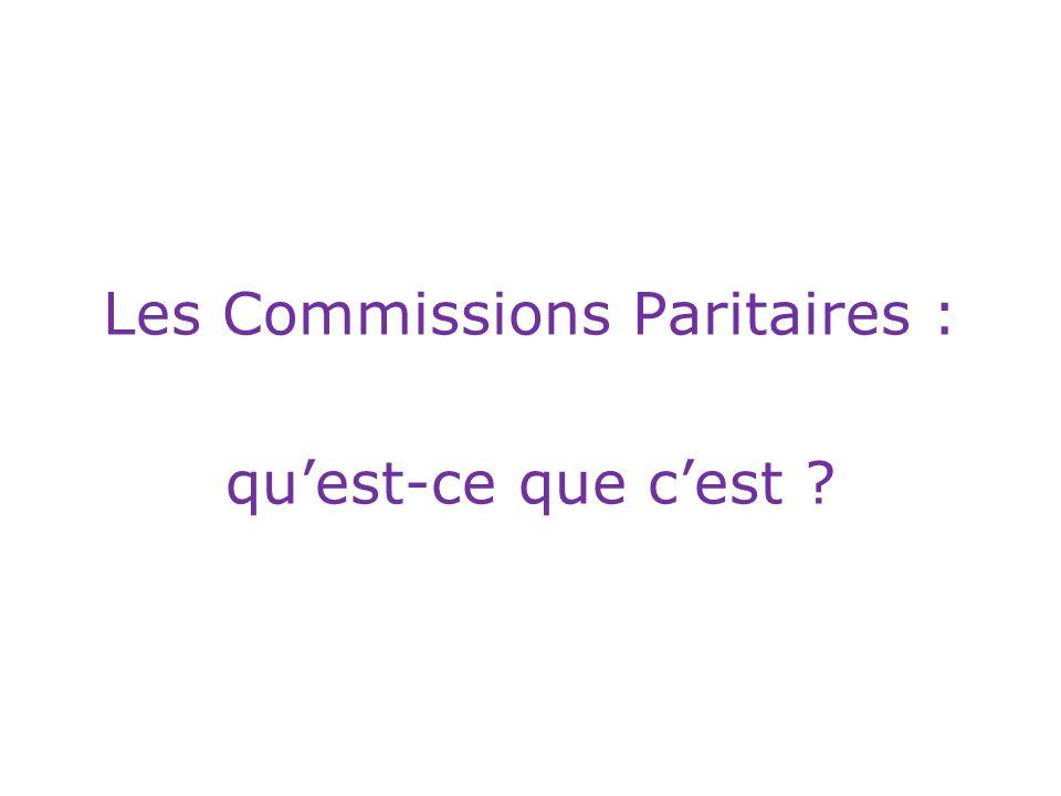 Les Commissions Paritaires : qu'est-ce que c'est ?