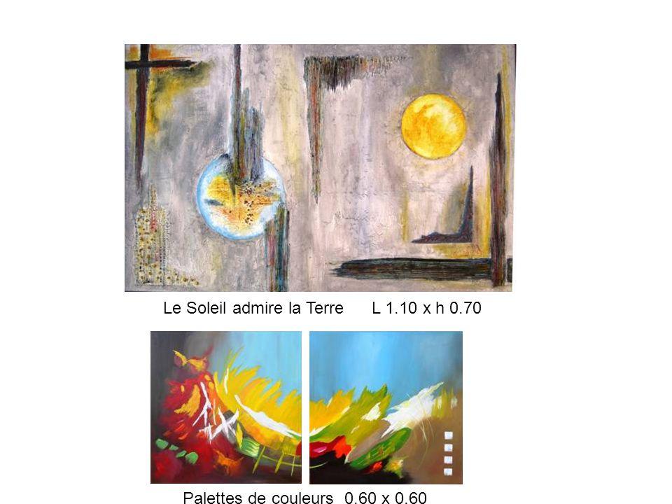 Le Soleil admire la Terre L 1.10 x h 0.70 Palettes de couleurs 0.60 x 0.60