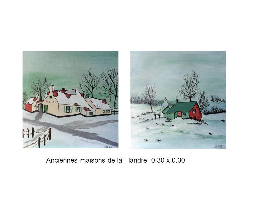 Anciennes maisons de la Flandre 0.30 x 0.30