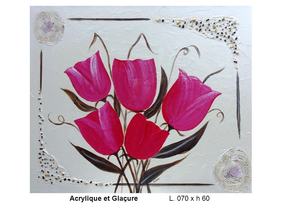 Acrylique et Glaçure L. 070 x h 60