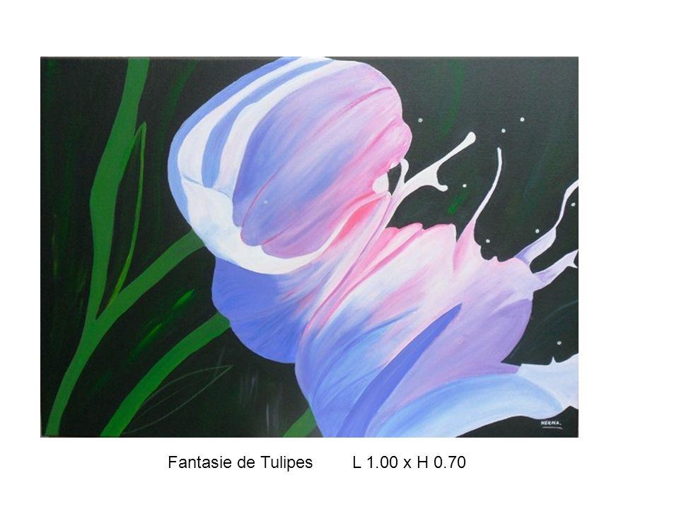 Fantasie de Tulipes L 1.00 x H 0.70