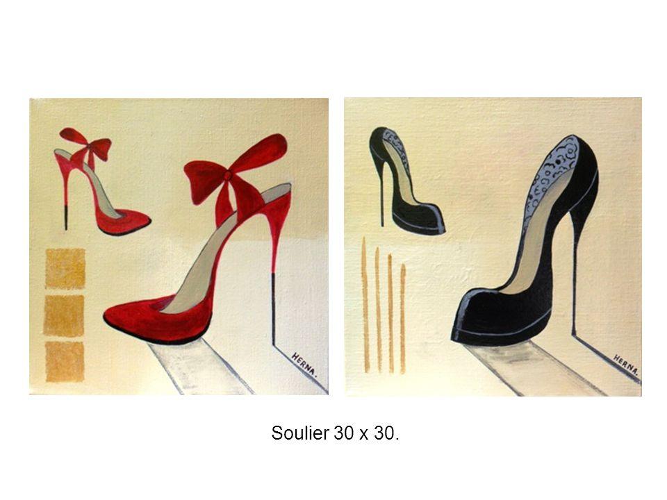 Soulier 30 x 30.
