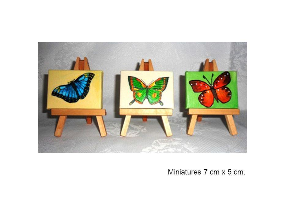 Miniatures 7 cm x 5 cm.
