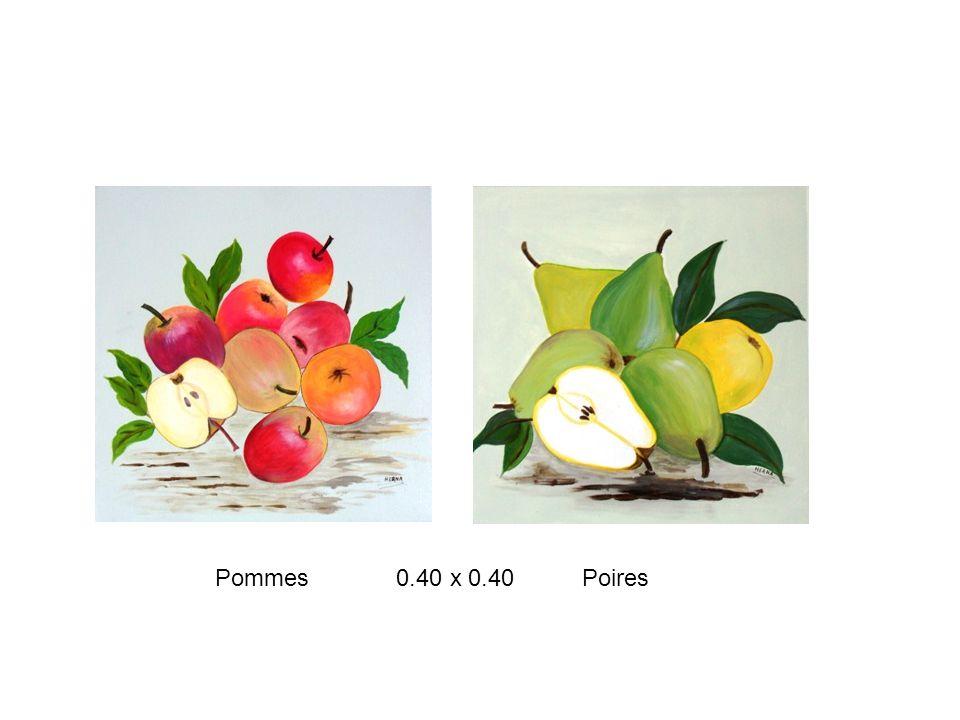 Pommes 0.40 x 0.40 Poires