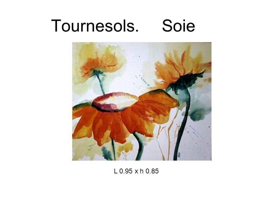 Tournesols. Soie L 0.95 x h 0.85