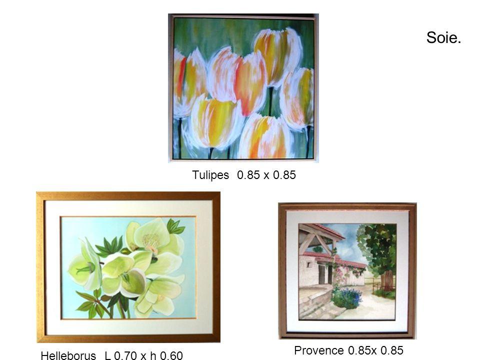 Soie. Tulipes 0.85 x 0.85 Helleborus L 0.70 x h 0.60 Provence 0.85x 0.85