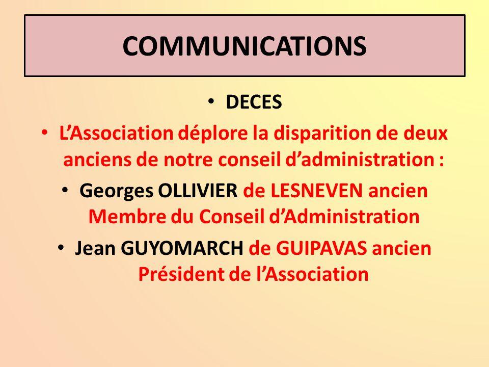 LE BUREAU NATIONAL ET LES ASSOCIATIONS AU TRAVAIL