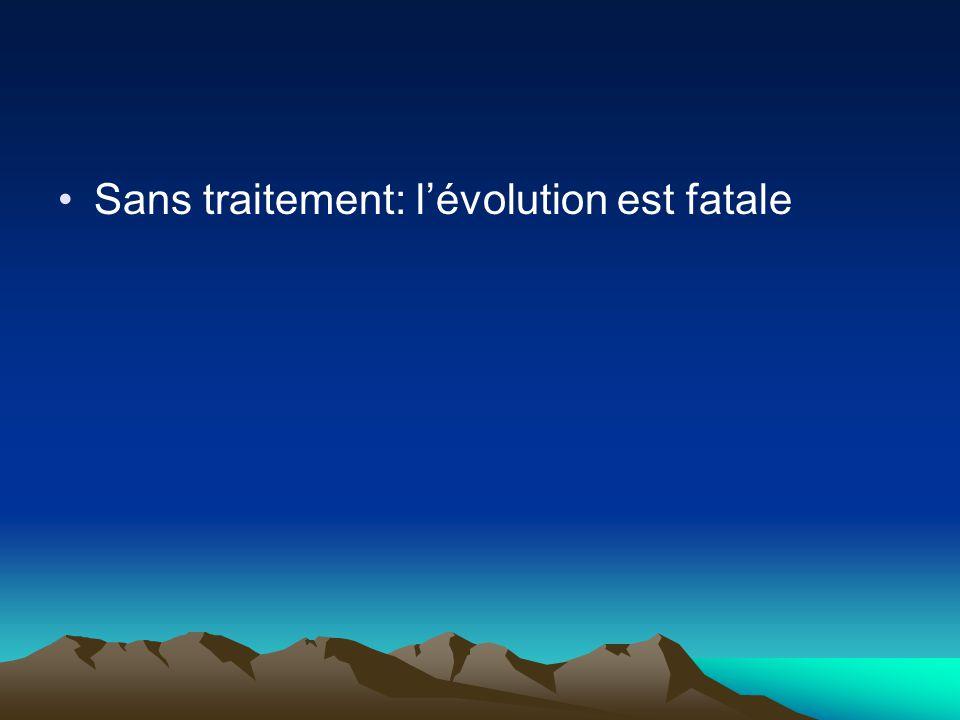 Sans traitement: l'évolution est fatale
