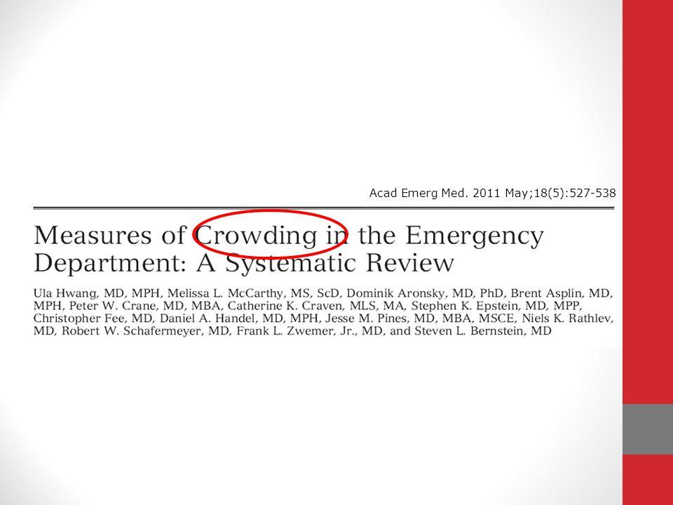 Le Management du « crowding » Acad Emerg Med. 2009 Jul;16(7):609-16