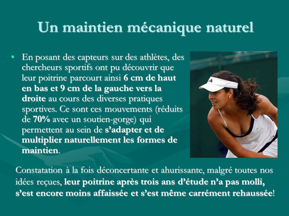 Un maintien mécanique naturel En posant des capteurs sur des athlètes, des chercheurs sportifs ont pu découvrir que leur poitrine parcourt ainsi 6 cm