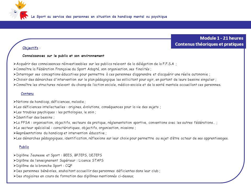 Objectifs : Connaissances sur le public et son environnement  Acquérir des connaissances réinvestissables sur les publics relevant de la délégation d