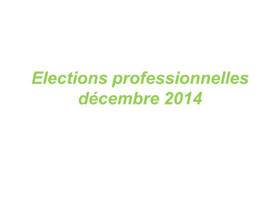 Elections professionnelles décembre 2014