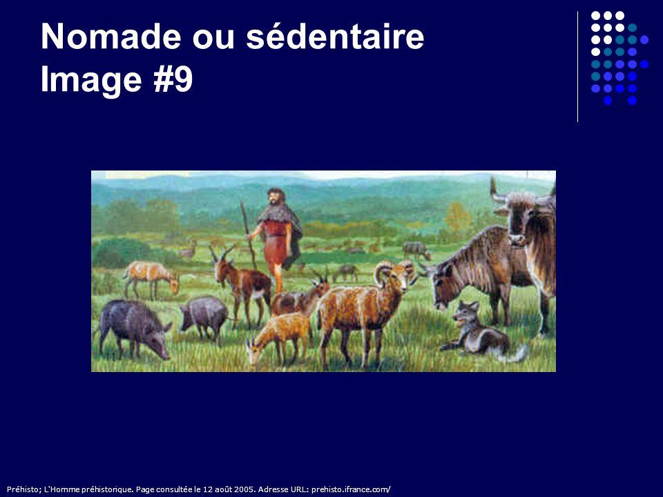 Nomade ou sédentaire Image #9 Préhisto; L'Homme préhistorique. Page consultée le 12 août 2005. Adresse URL: prehisto.ifrance.com/