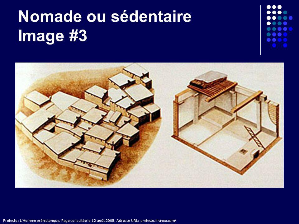 Nomade ou sédentaire Image #3 Préhisto; L'Homme préhistorique. Page consultée le 12 août 2005. Adresse URL: prehisto.ifrance.com/