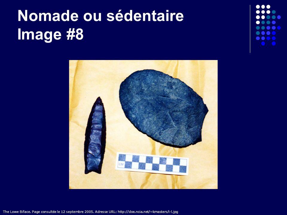 Nomade ou sédentaire Image #8 The Lowe Biface. Page consultée le 12 septembre 2005. Adresse URL: http://doe.ncia.net/~kmasters/i-l.jpg