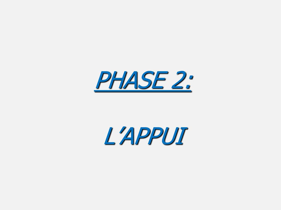 PHASE 2: L'APPUI