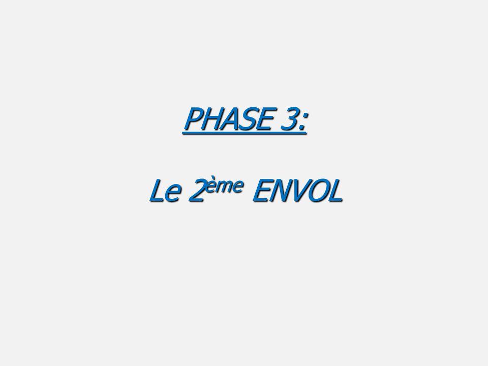 PHASE 3: Le 2 ème ENVOL