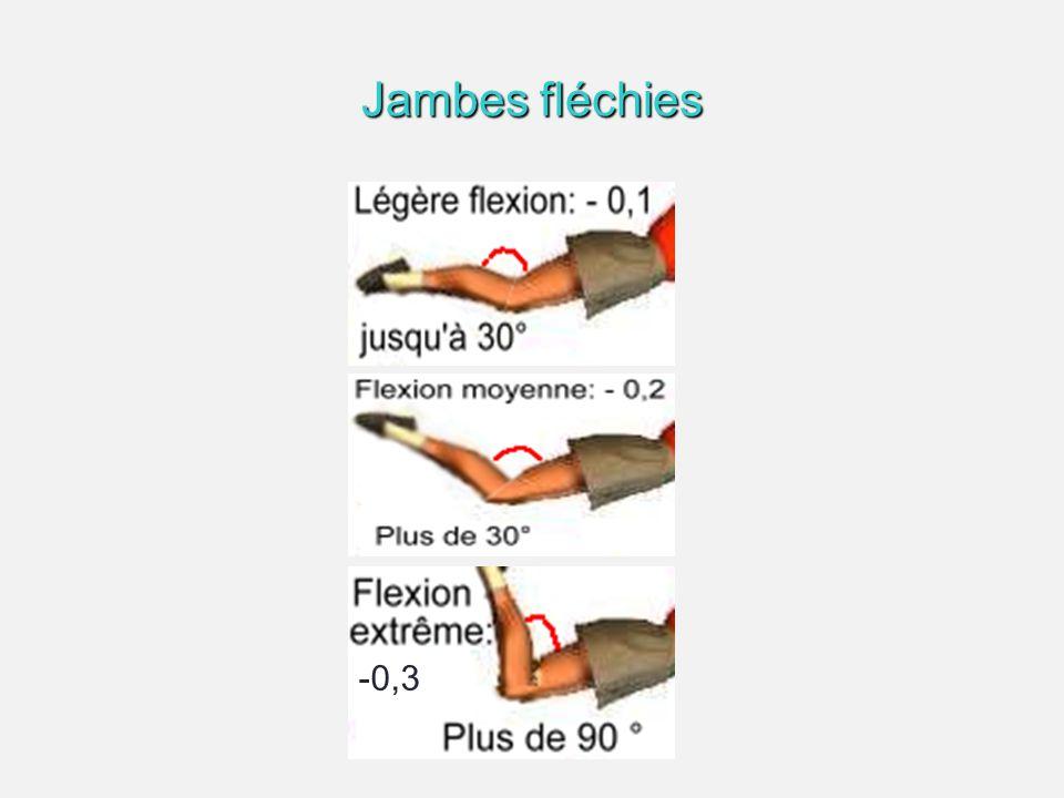 Jambes fléchies -0,3