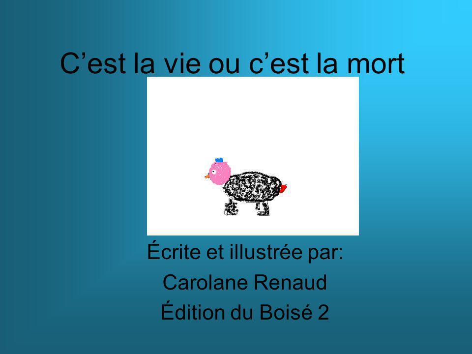C'est la vie ou c'est la mort Écrite et illustrée par: Carolane Renaud Édition du Boisé 2