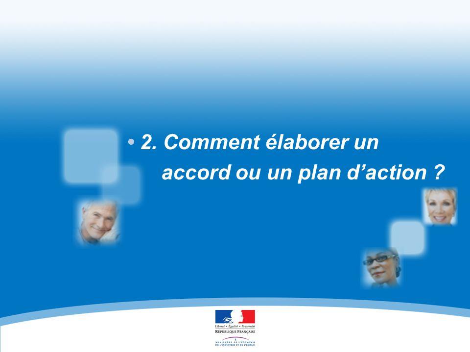 EN FAVEUR DE L'EMPLOI DES SALARIÉS ÂGÉS ACCORDS ET PLANS D'ACTION 15 2.