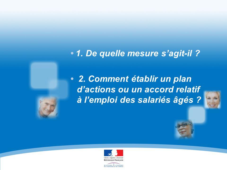 EN FAVEUR DE L'EMPLOI DES SALARIÉS ÂGÉS ACCORDS ET PLANS D'ACTION 13 1 - OÙ TROUVER DES INFORMATIONS .