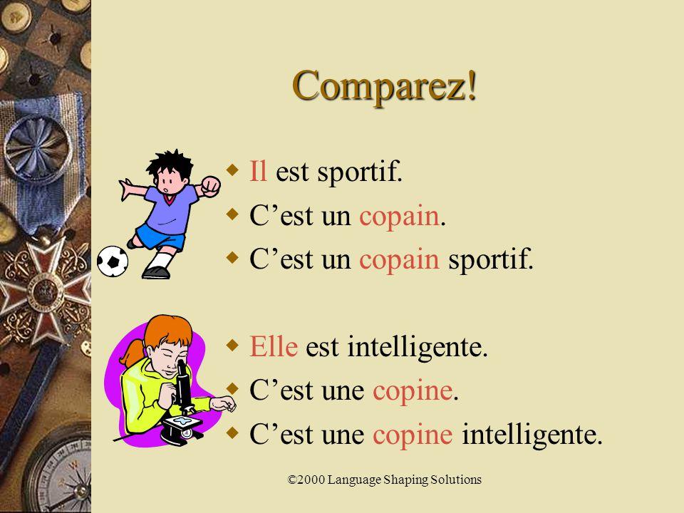 ©2000 Language Shaping Solutions Il est ou C'est Comment choisir entre les deux!