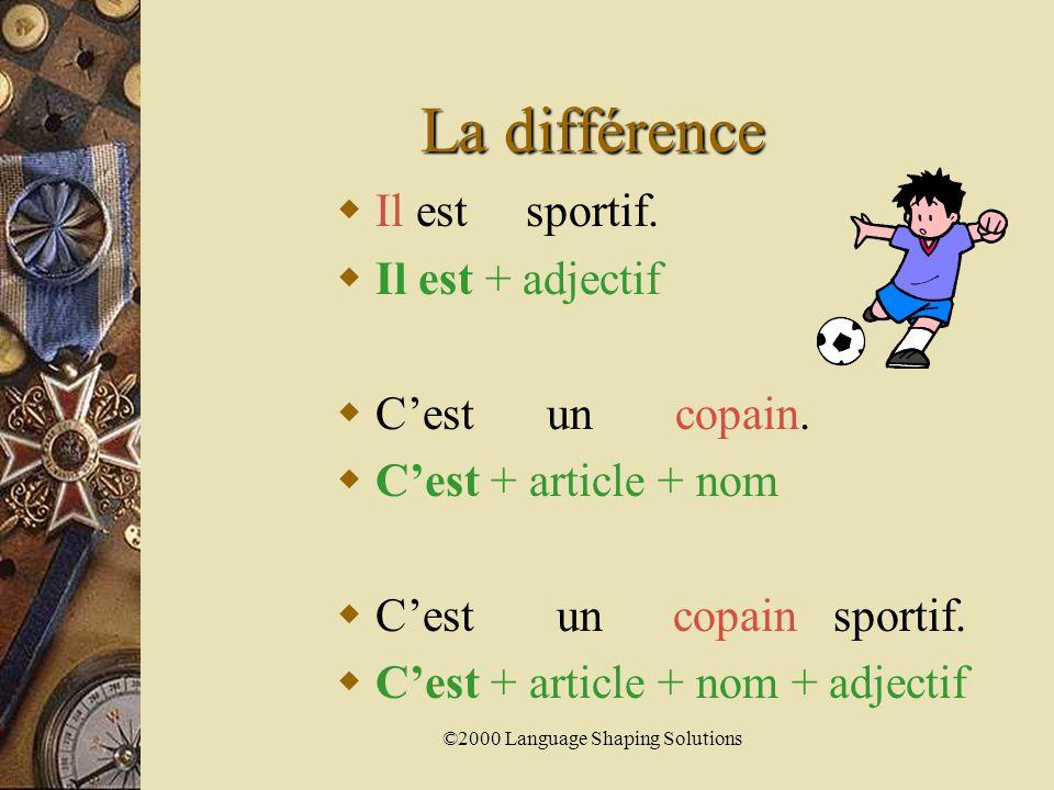 ©2000 Language Shaping Solutions Comparez.  Il est joli.