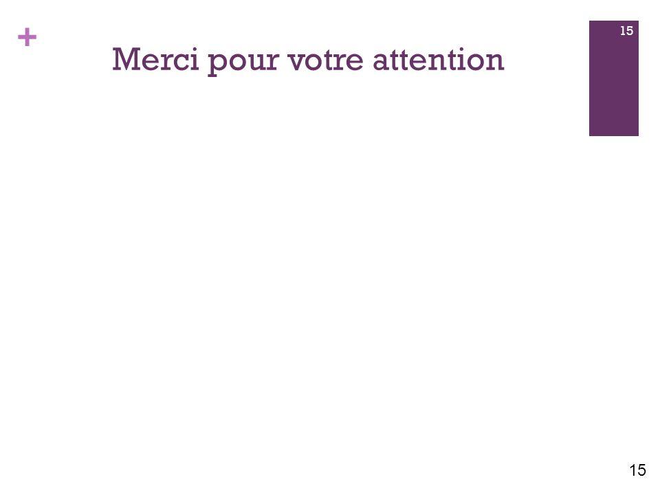 + Merci pour votre attention 15